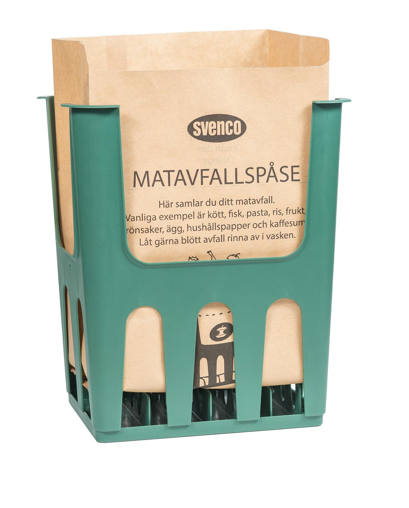 Matavfallspåse i ventilerad hållare - Mathilda - 1008STD - Svenco