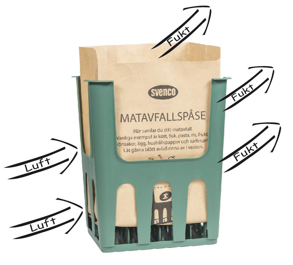 Matavfallspåse med Ventilerad hållare